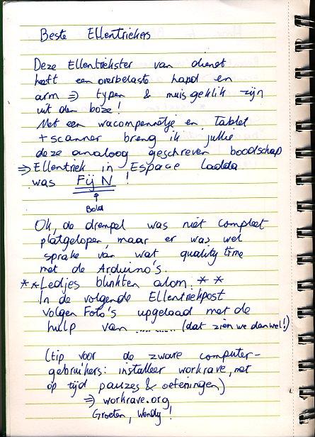 Handgeschreven ellentriek